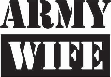 Army Wife Sticker