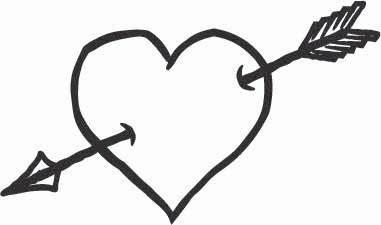 Arrow Heart Sticker