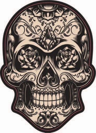 Dark Candy Skull Sticker