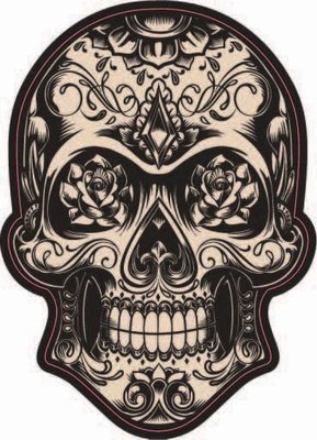 Dark Candy Skull Sticker