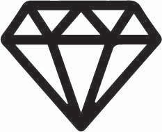 Clear Diamond Sticker