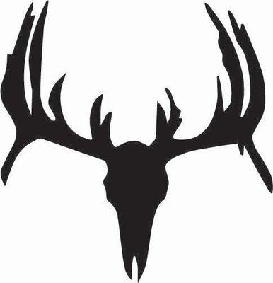 Deer Skull Silhouette Sticker