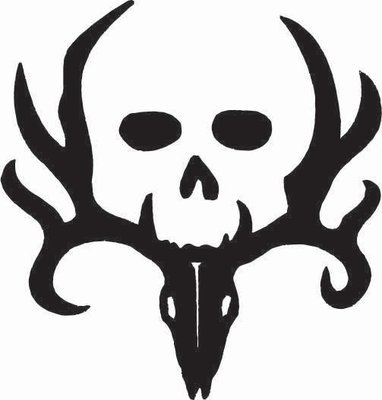 Deer Skull With Face Sticker
