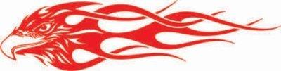 Flaming Hawk Sticker