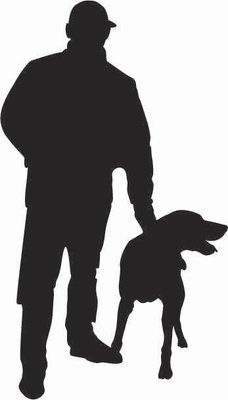 Man and Dog Sticker