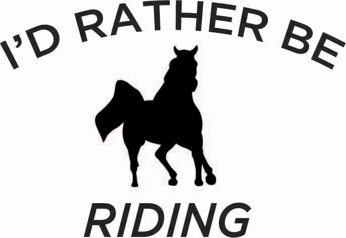 I'd Rather Be Riding Sticker