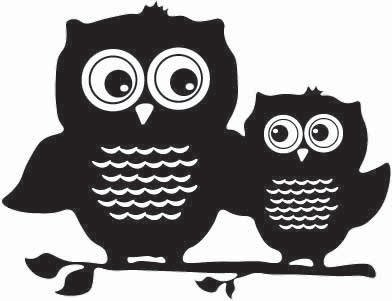 Owl Pair Sticker