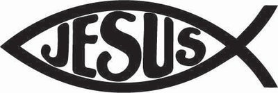 Jesus Fish Religious Sticker
