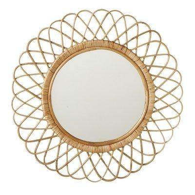 Woven Edge Round Mirror
