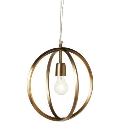 Gold Circle Pendant Light