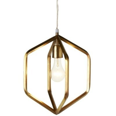Gold Hexagon Pendant Light