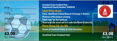 Sheff Utd Mascot Package Single Entry into prize draw for £3