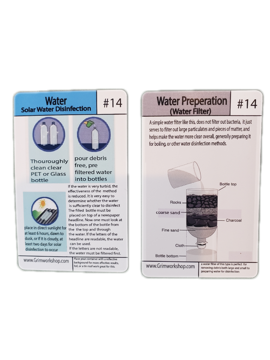 #14 Water purification Tip Card (Solar, and natural filter)