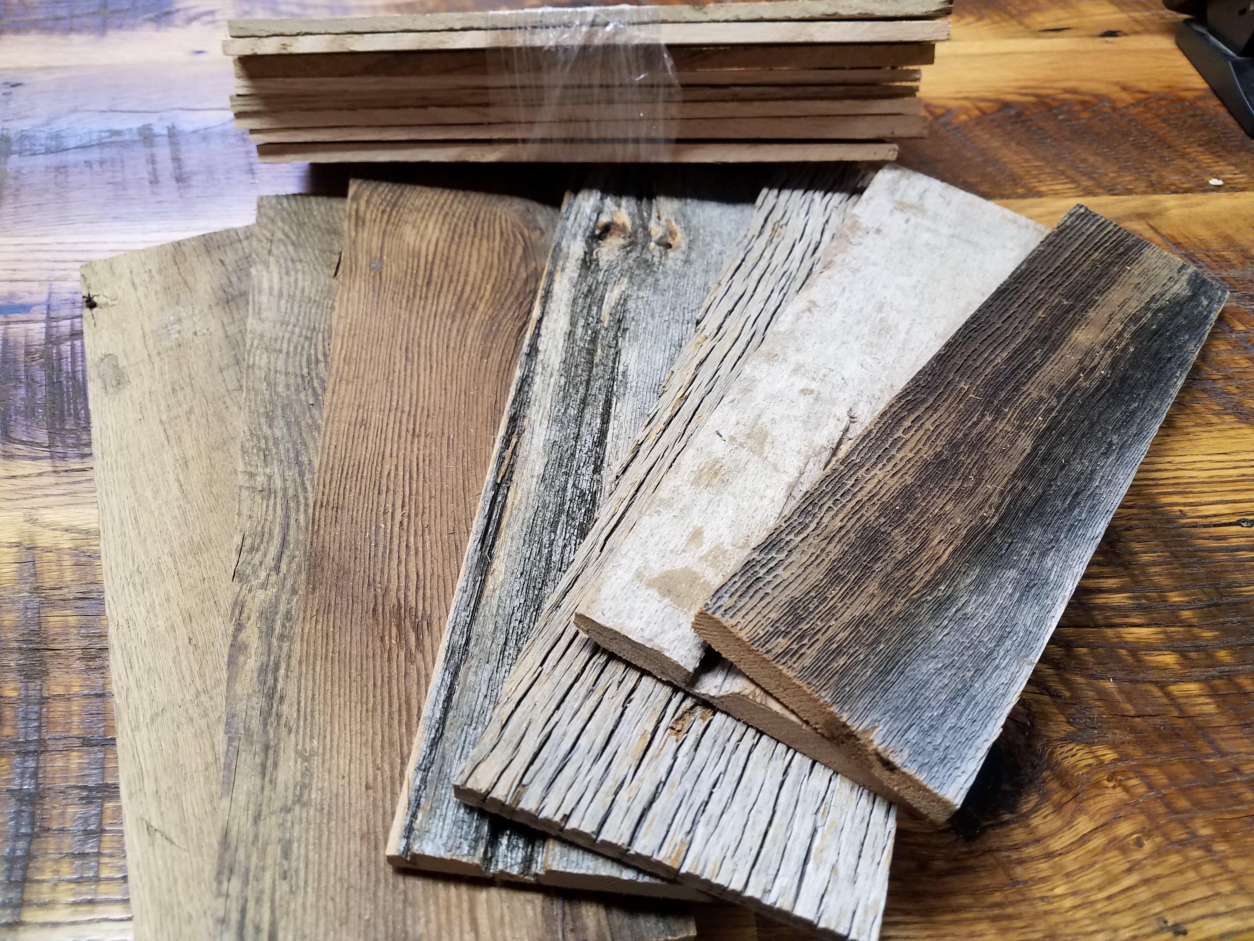 Assorted Barnwood Paneling Samples 00008