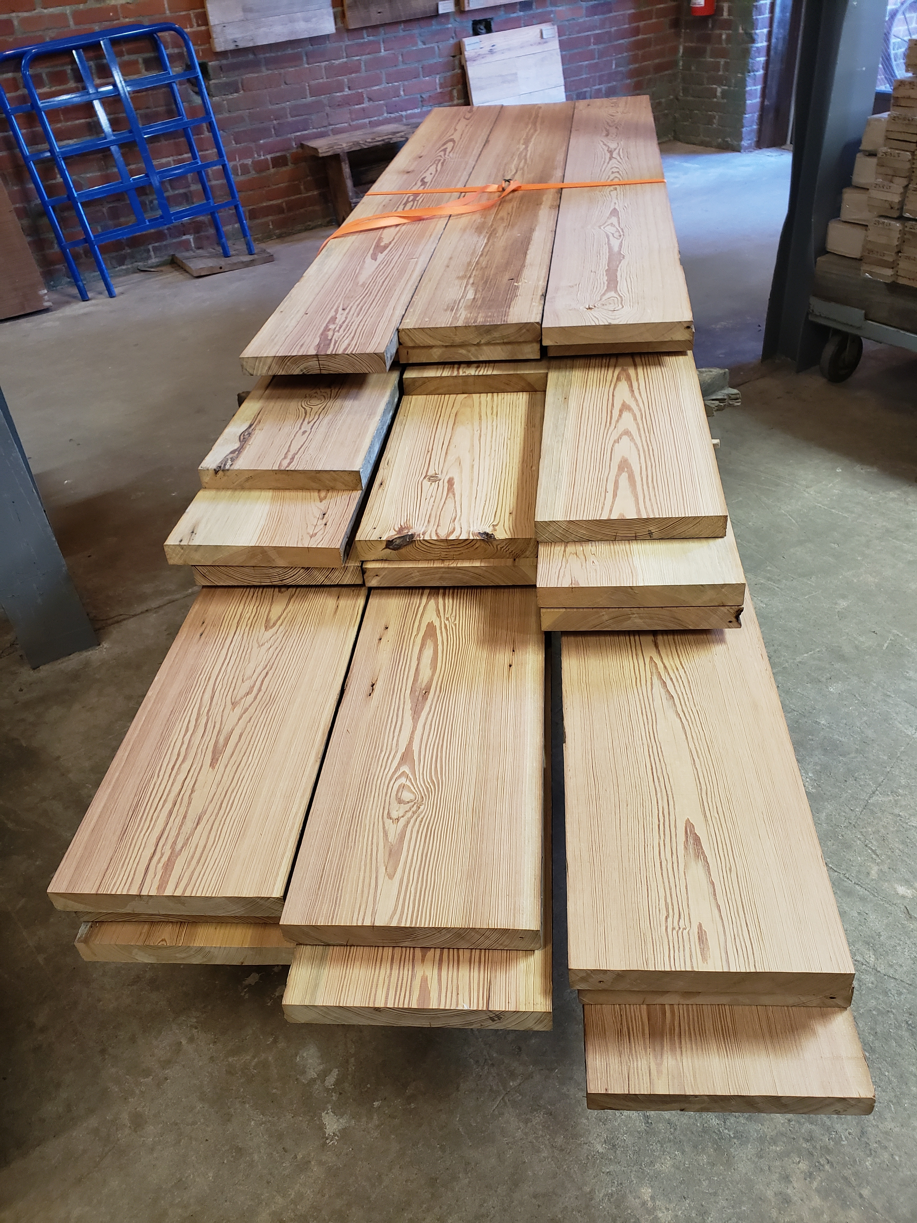 Antique Heart Pine Boards 00023