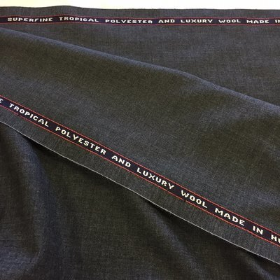 Navy Luxury Ultrafine Super 160/'s Wool Suit Fabric Made In England