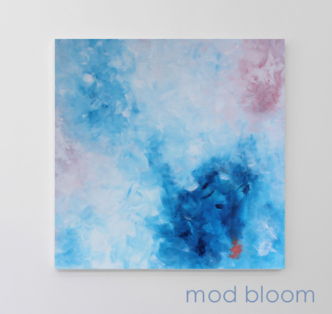 Expressive Abstract Art Painting - Blue - MOD BLOOM