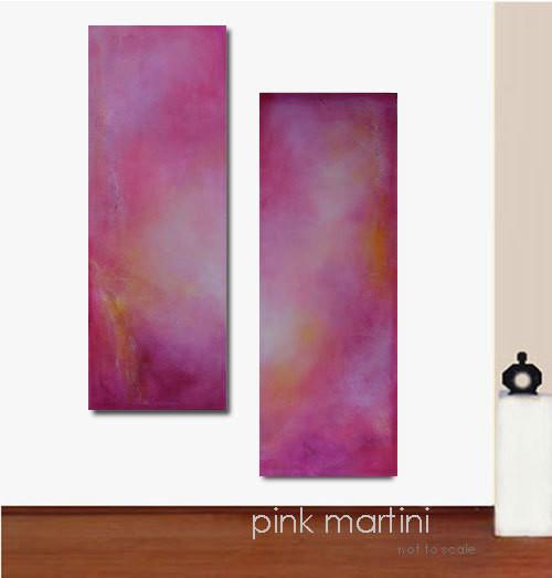 Large Pink Abstract Art Painting - Original Art - PINK MARTINI