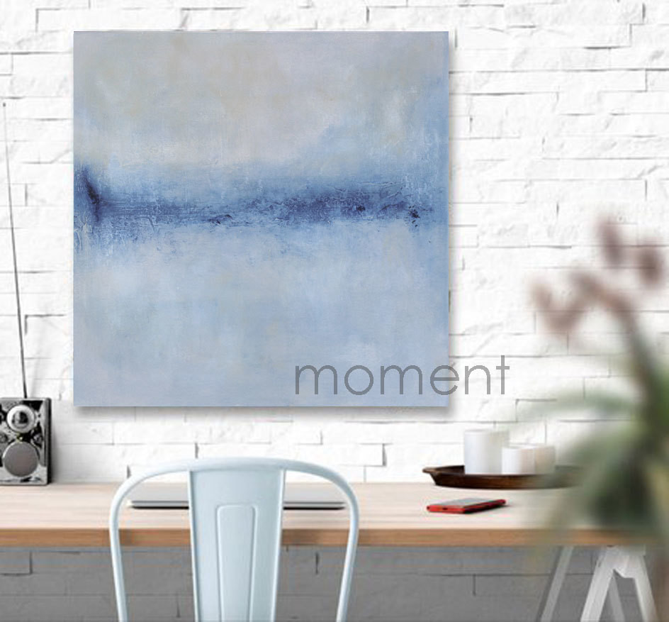 Abstract Original Art Painting - Contemporary Landscape - Blue