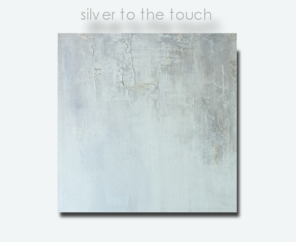 Silver Metallic Wall Art - Grey White Neutral Tonal Original Painting