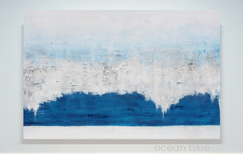 Large Blue Abstract Art Painting - OCEAN BLUE