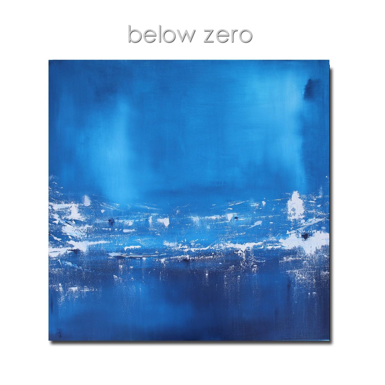 Blue Canvas Abstract Art - Below Zero