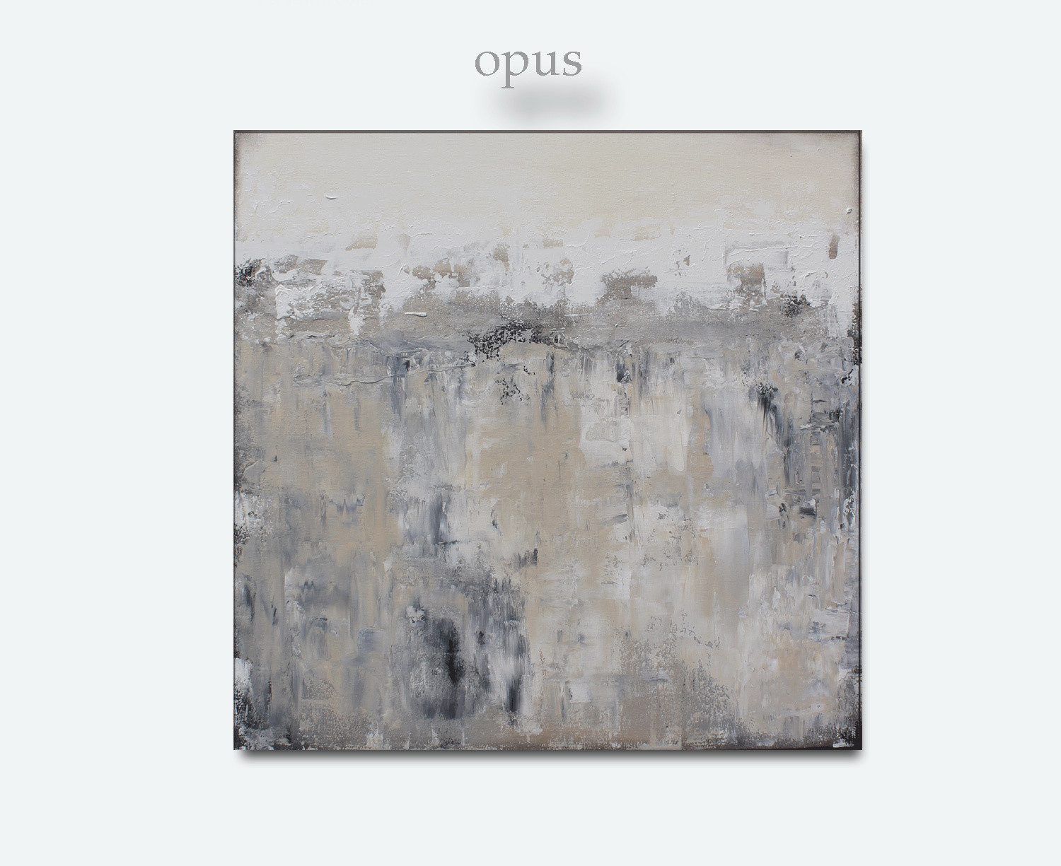 Neutral Abstract Art Painting - OPUS