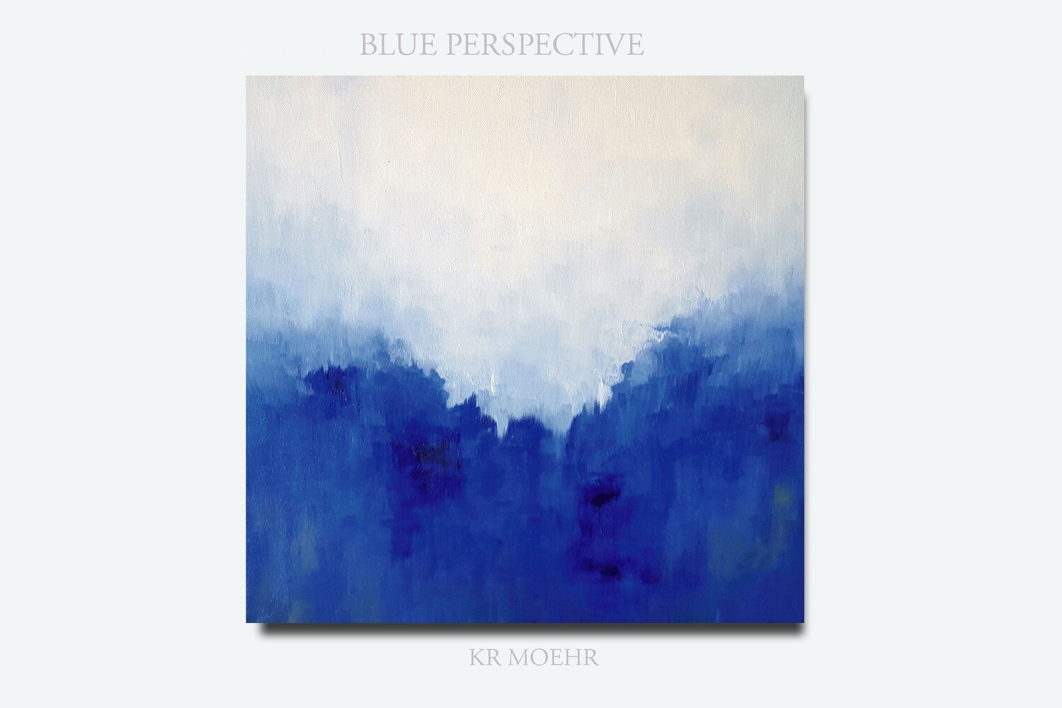 Blue Perspective Oil Painting