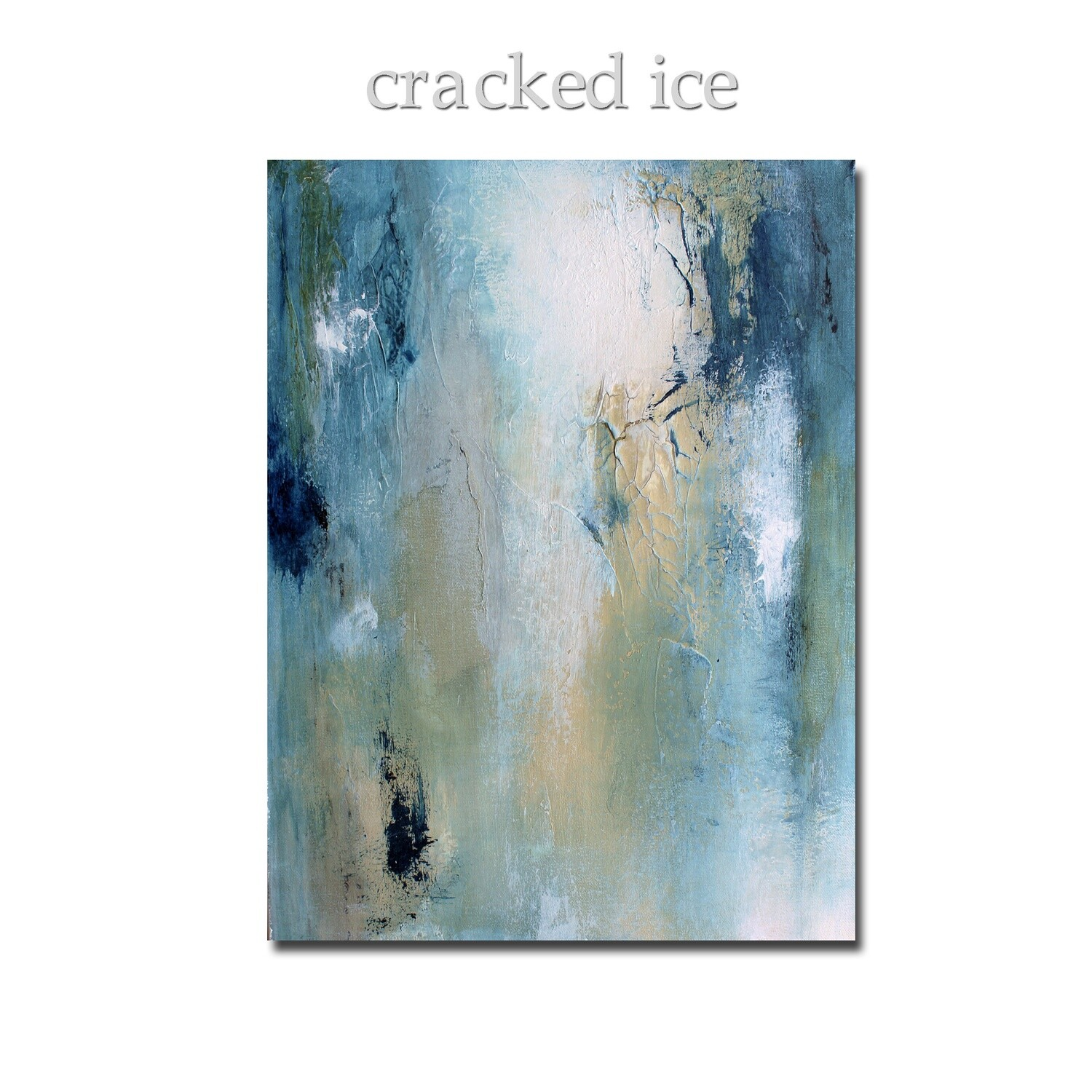 Cracked Ice Modern Painting