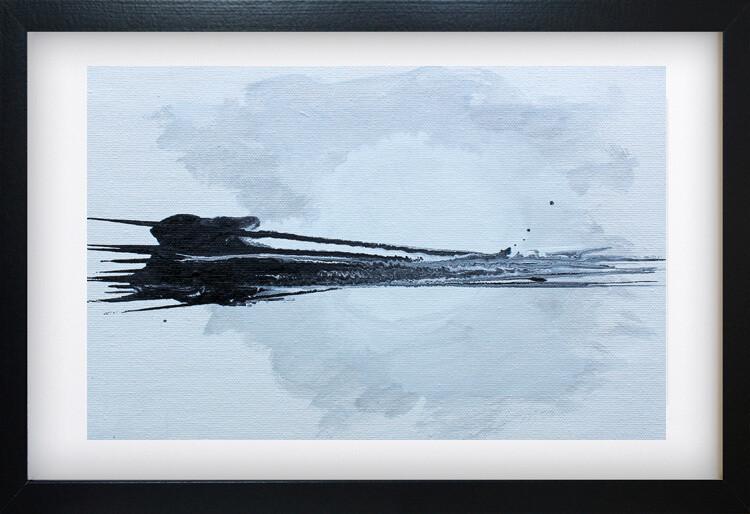 Modern Minimal Landscape - Black