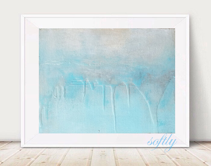 Light Blue Abstract Landscape - SOFTLY