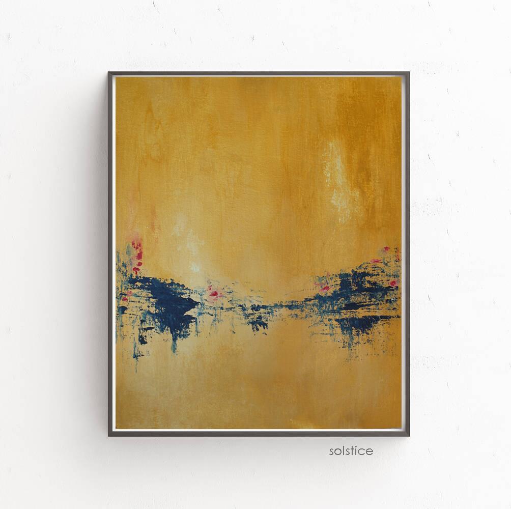 SOLSTICE Minimalist Abstract Landscape Art Painting
