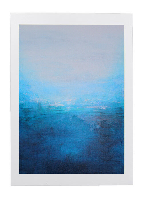 Land Isle - Blue Water Abstract Landscape Original Art Painting
