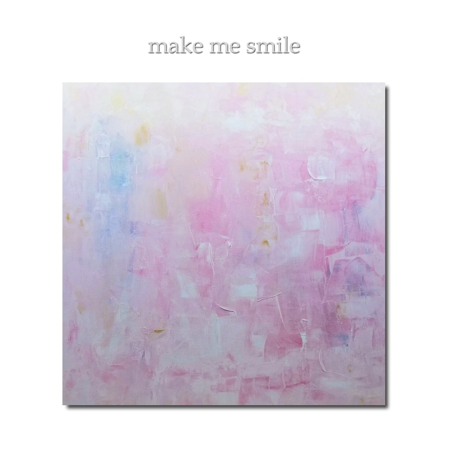 Pink Abstract Original Art Painting - MAKE ME SMILE