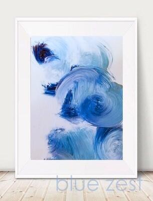 BLUE ZEST - Art Print