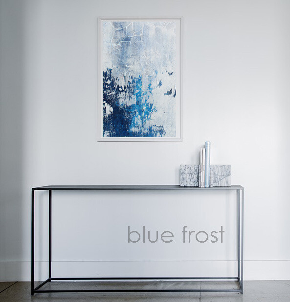 BLUE FROST Modern Abstract Print