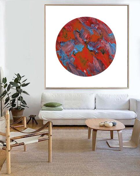 RED ZEN Modern Abstract Print