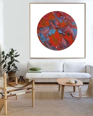 RED ZEN Modern Abstract Print