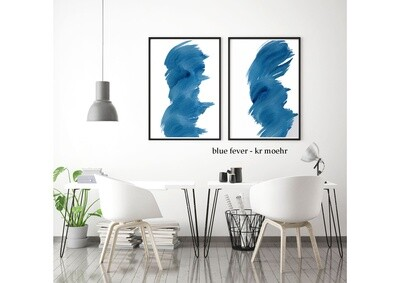 BLUE FEVER - ART PRINT