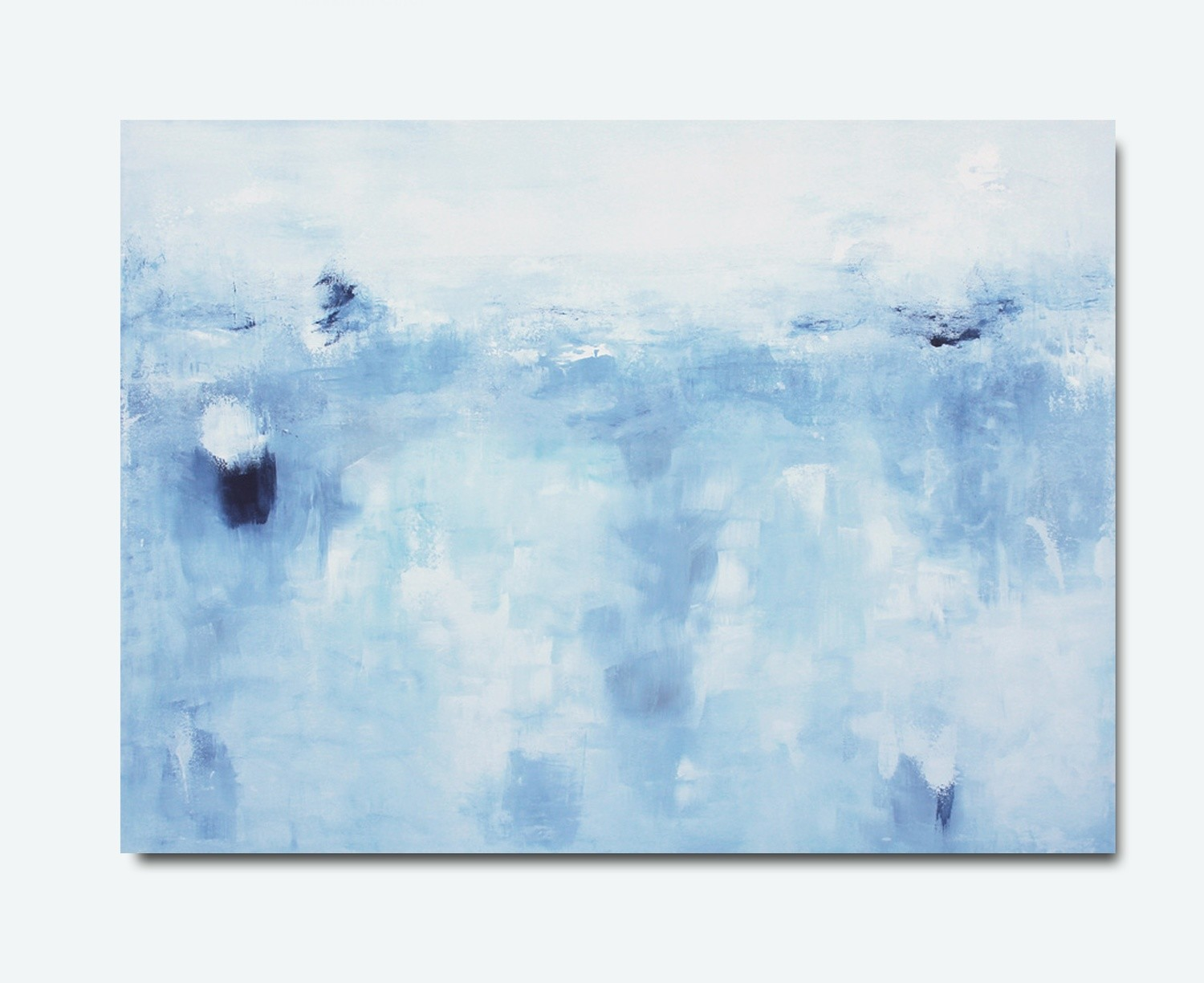 Large Blue Abstract Art Painting