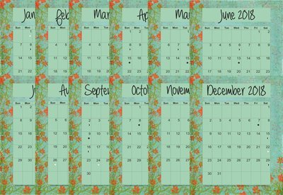 2018 BYOP 12-Month Planner Bundle Lots of Fabric in the Seaside Design - Monarch (Letter Size 11 x 8.5)