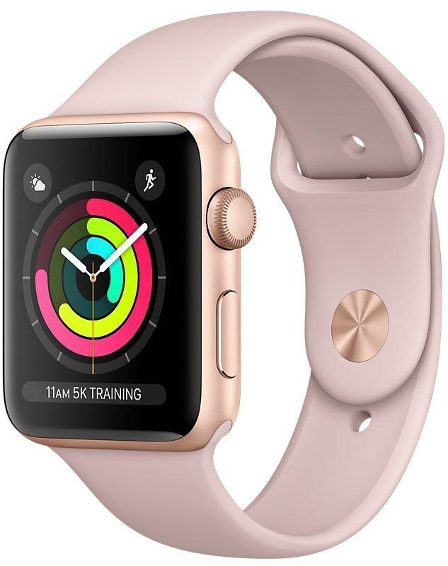 Часы Apple Watch Series 3 42mm Aluminum Case with Sport Band (золотистый/розовый)