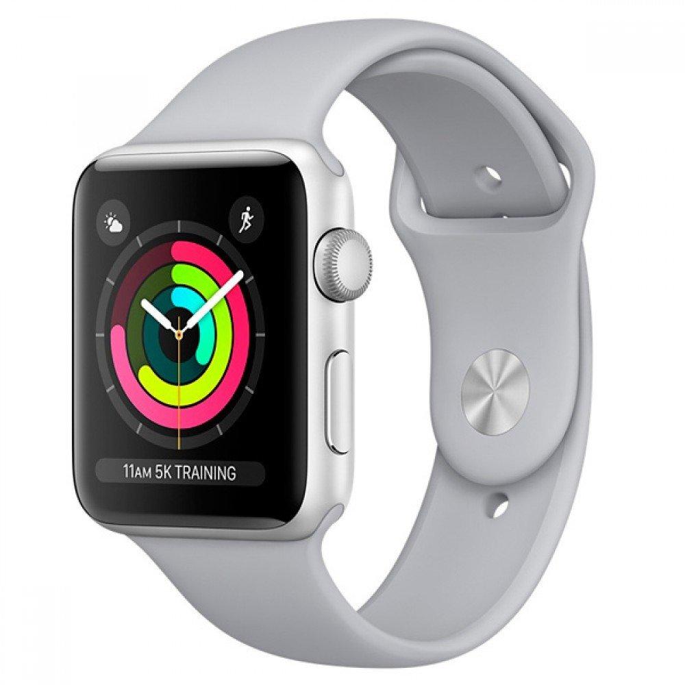 Часы Apple Watch Series 3 38mm Aluminum Case with Sport Band (серебристый/дымчатый)