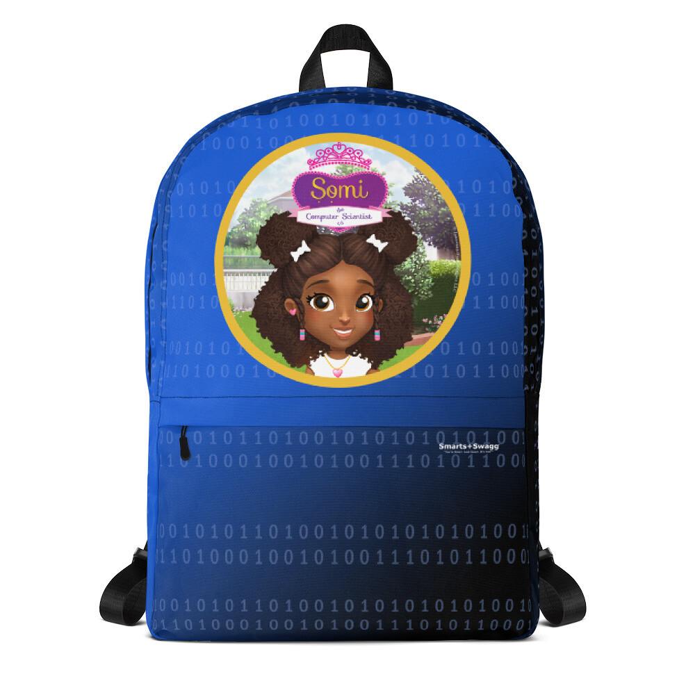 Somi Blue Laptop Backpack