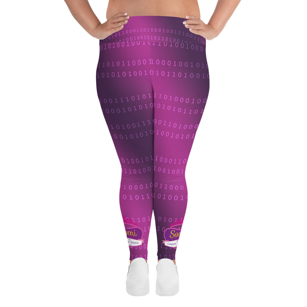 Somi Purple All-Over Print Plus Size Leggings