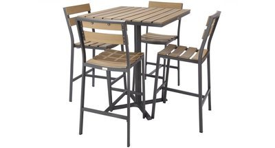 Asher Outdoor 4-Top Bar Set