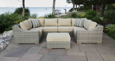 Corsica Outdoor U-Shaped Sectional Set
