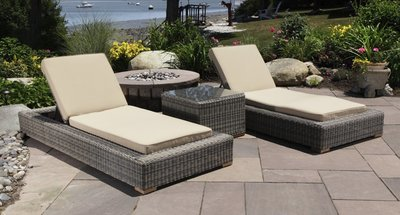 Corsica Outdoor Chaise Lounge Chair Set