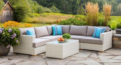Mykonos Outdoor Sectional With Extender