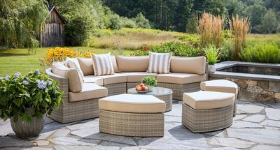 Gray Santorini Outdoor Daybed